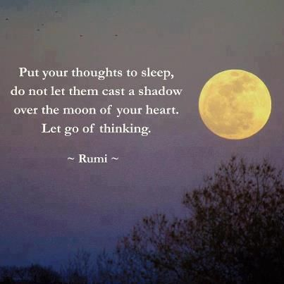 Mindfulness quote about sleep with image of full moon