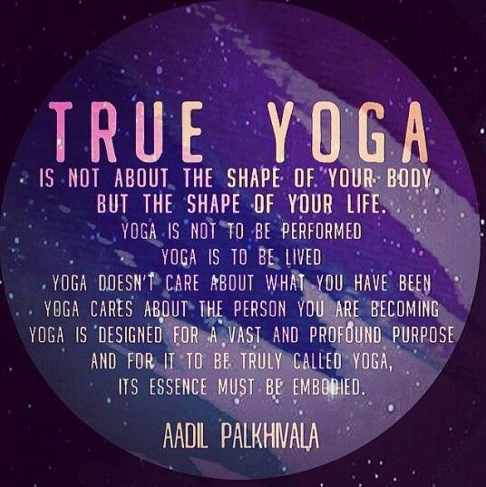 Quote about True yoga on image of a planet