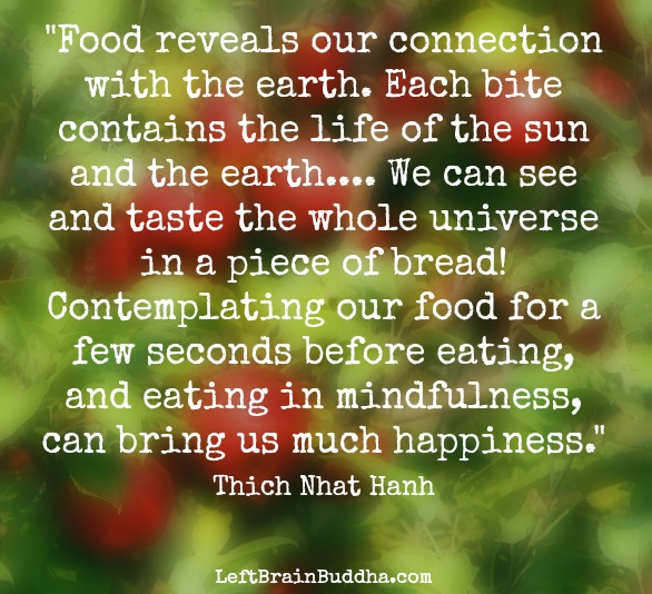 mindful eating quote about food