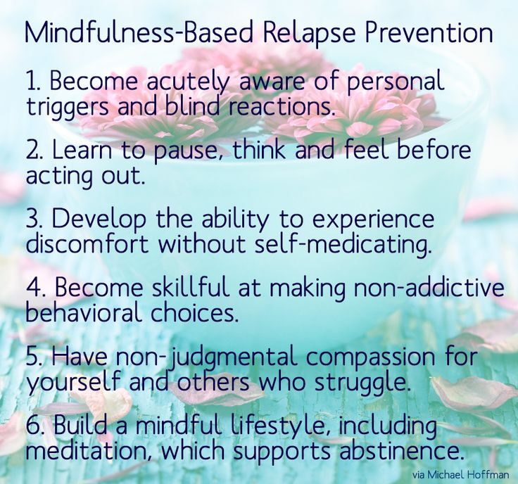 quote about mindfulness-based relapse prevention