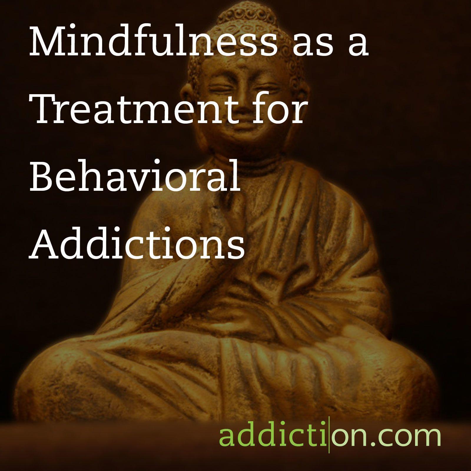 mindfulness addiction quote on image of buddha