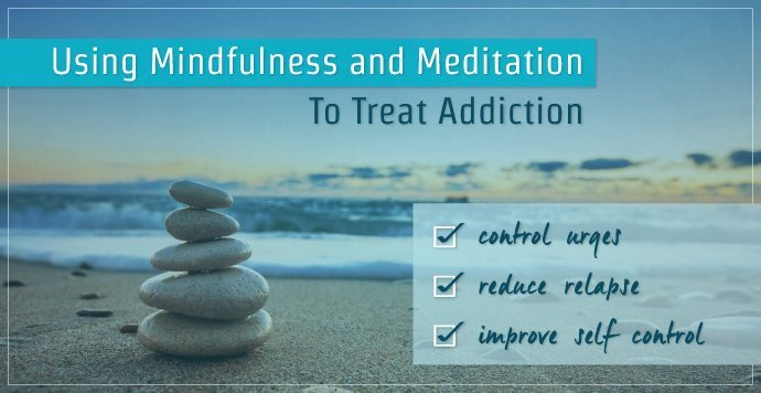 Quote about addiction on image of stacked pebbles on beach