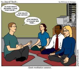 Mindful meditation at work