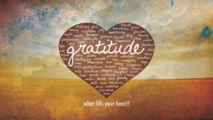 gratitude - what fills your heart?