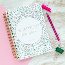 Picture of a gratitude journal