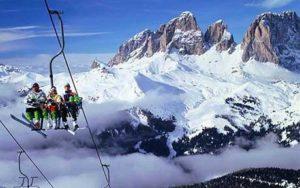 Dolomites ski-lift
