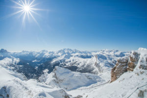 Mindful skiing in Dolomites
